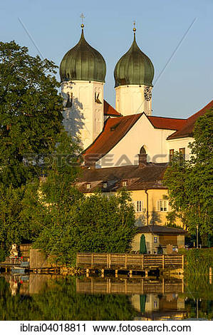 "Stock Photography of ""Benedictine Kloster Seeon monastery with."
