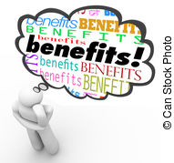 Benefit Illustrations and Clip Art. 17,333 Benefit royalty free.