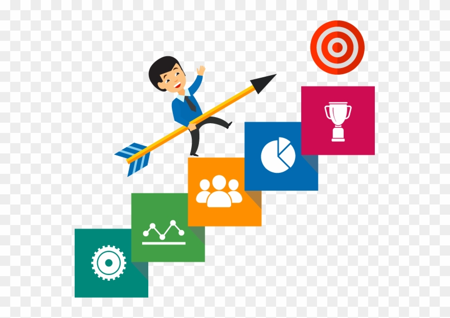 Key Benefits Of Professional Business Review Process Clipart.