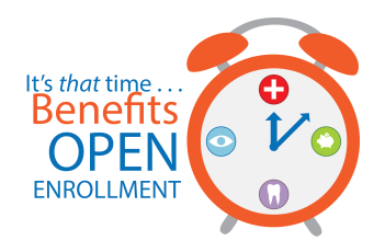 Benefits Open Enrollment Clipart.