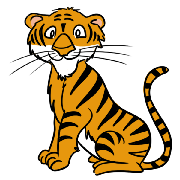 tiger eating clipart #10
