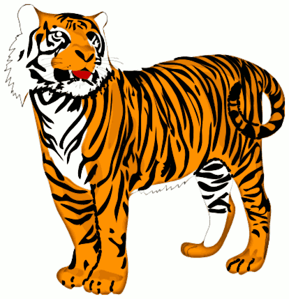 Free Bengal Tiger Clipart, 1 page of Public Domain Clip Art.