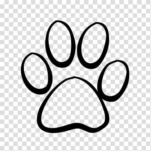 Black paw print illustration, Dog Cat Tiger Coyote , Lion.