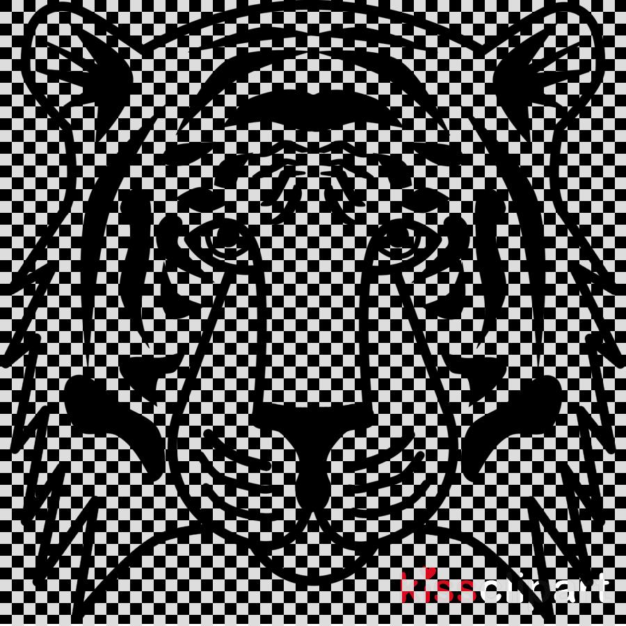 wildlife head tiger bengal tiger black.