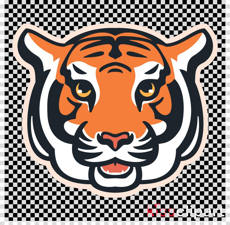 bengal tiger tiger head big cats snout clipart.