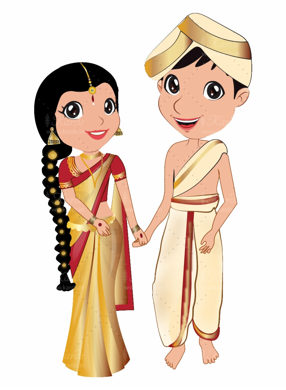 Groom Clipart Bengali Wedding Card.