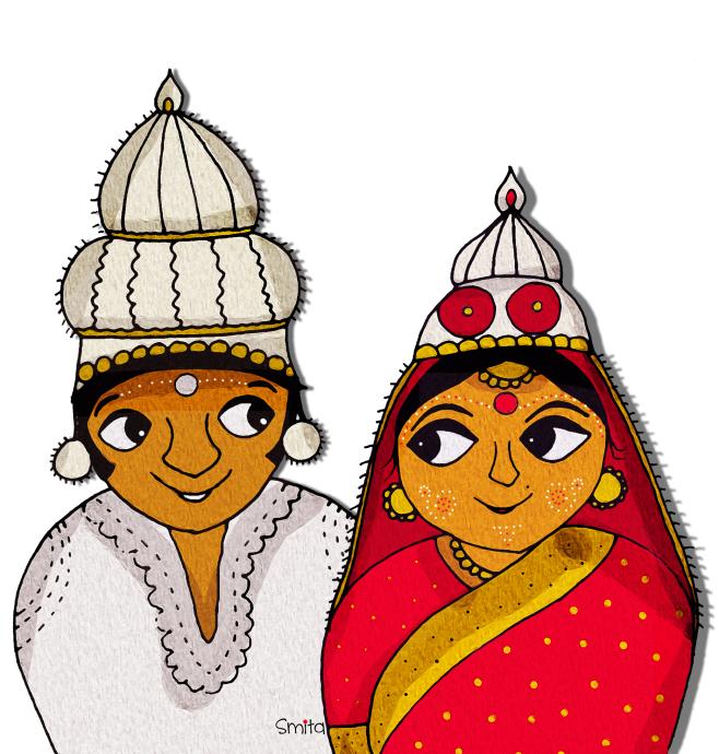 Bengali Wedding Clipart Image.