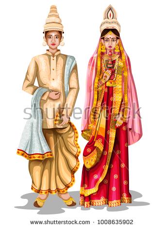 Bengali Wedding Clipart Png.