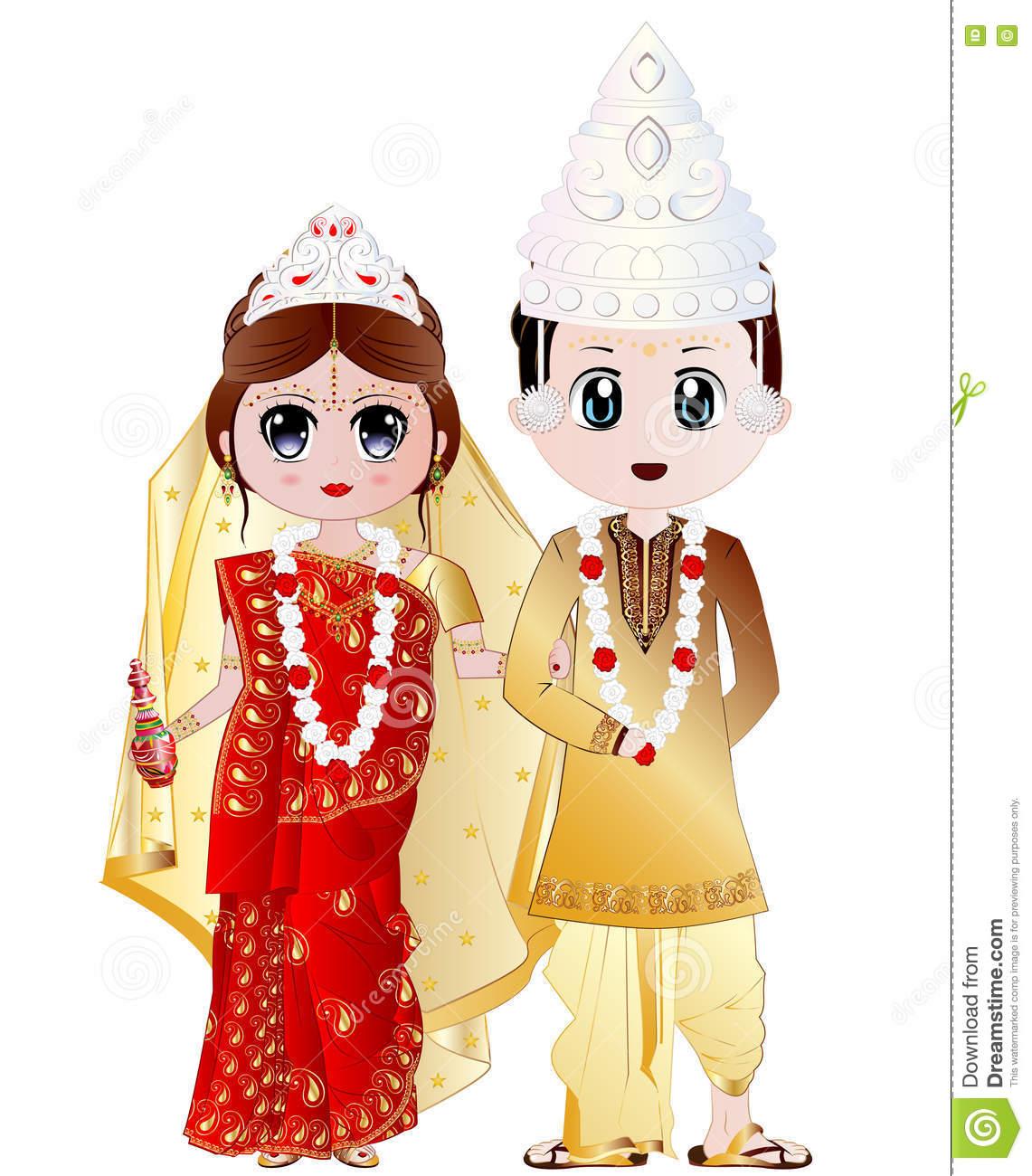 Bengali Wedding Clipart.