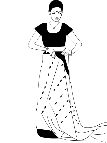 How To Wear A Saree In Bengali Style.
