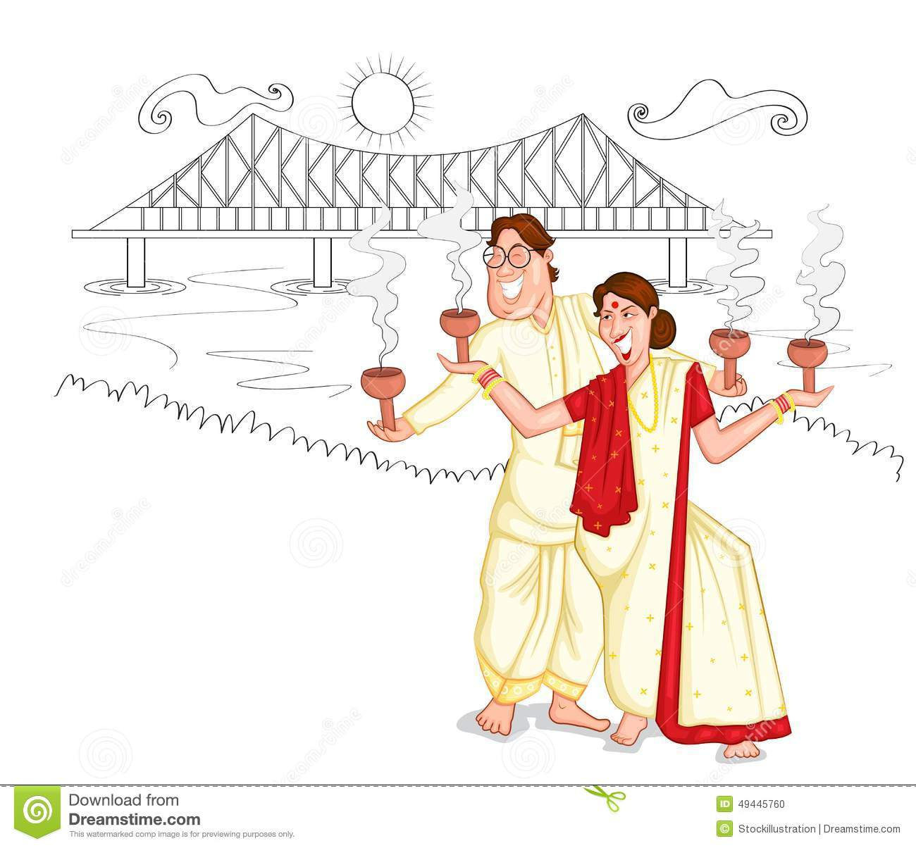 West bengal clipart.