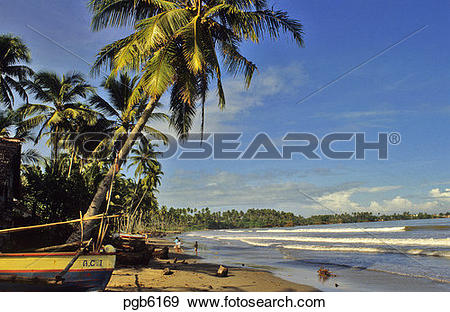 Stock Photograph of Indonesia. Sumatra. Beach at Bengkulu. pgb6169.