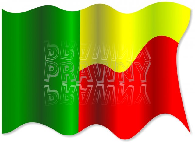 The National Flag of Benin Clipart.