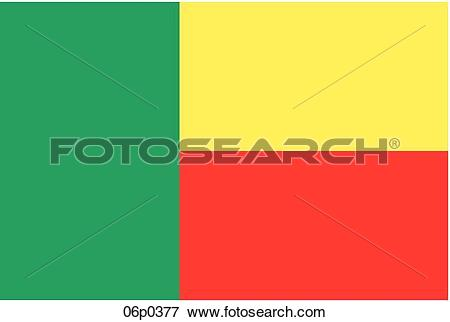 Clip Art of benin flag 06p0377.
