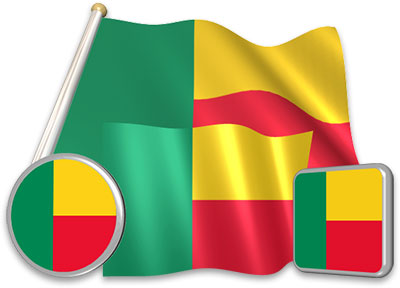 Flag of Benin.