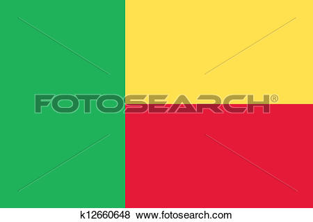 Clip Art of Benin flag k12660648.