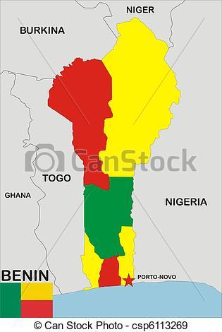Stock Illustration of Benin Map.