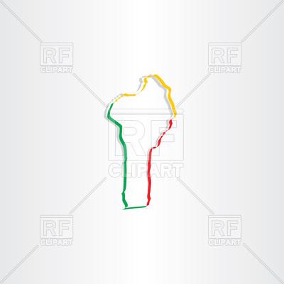 Benin map icon Vector Image #104406.