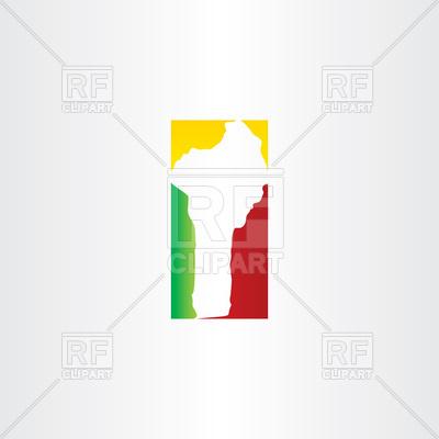 Benin map icon Vector Image #104374.