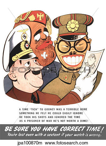 Drawings of Vintage WW2 poster of caricatures of Benito Mussolini.