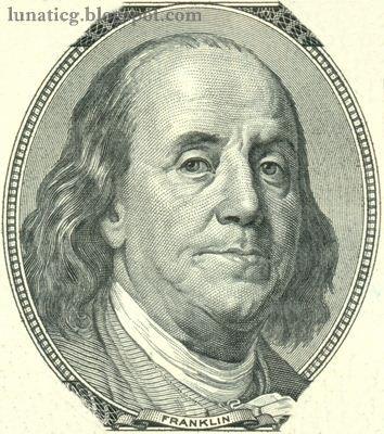 $100 Dollars Bill Portrait.