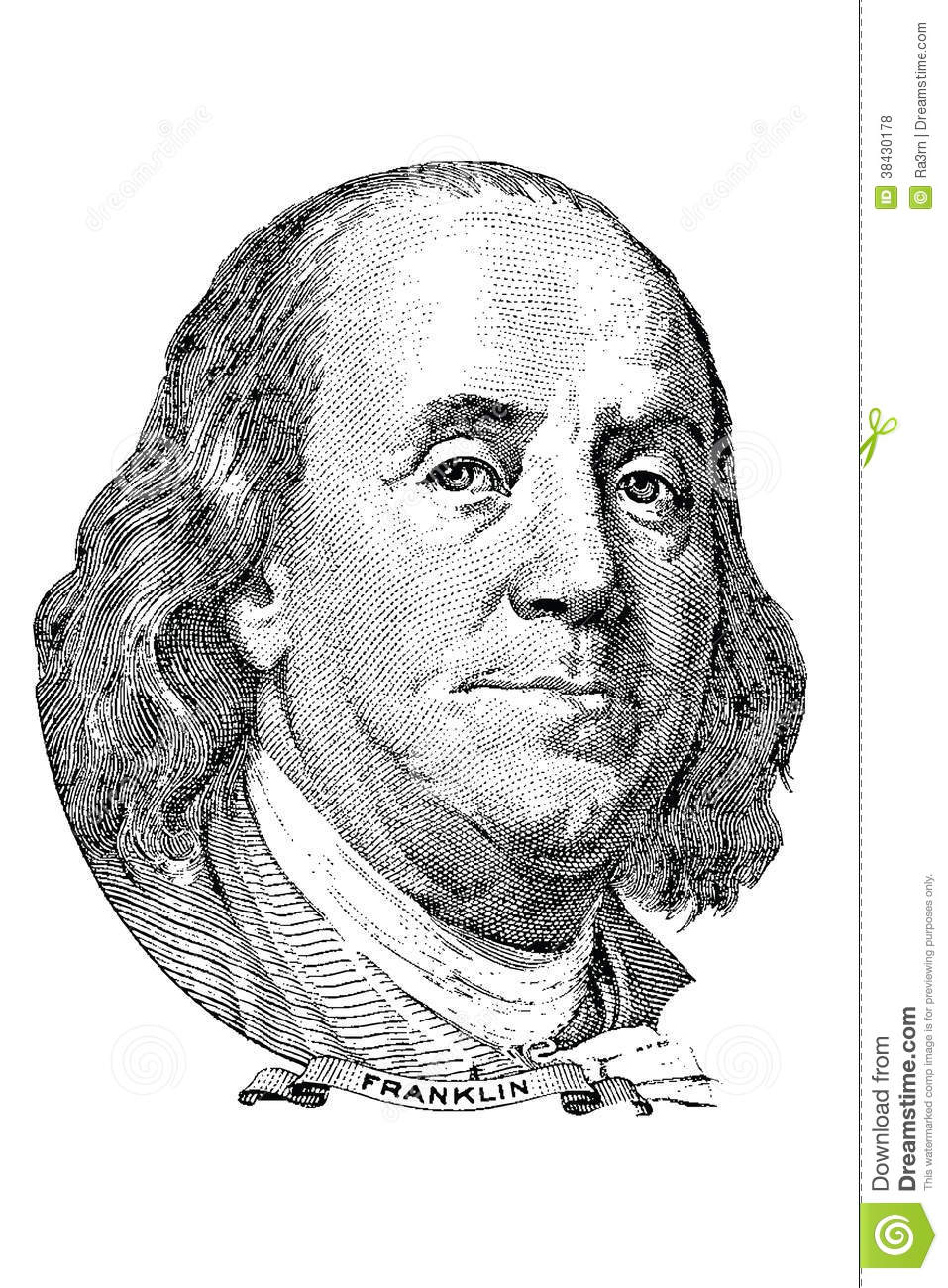 Ben franklin money clip art.