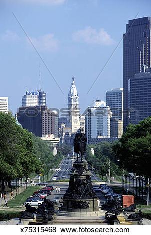 Pictures of Benjamin Franklin Parkway, Philadelphia x75315468.