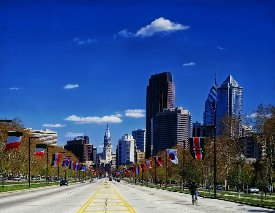 Free photo Pennsylvania Philadelphia Benjamin Franklin Parkway.