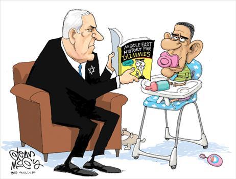 Benjamin Netanyahu and Obama Clip Art.