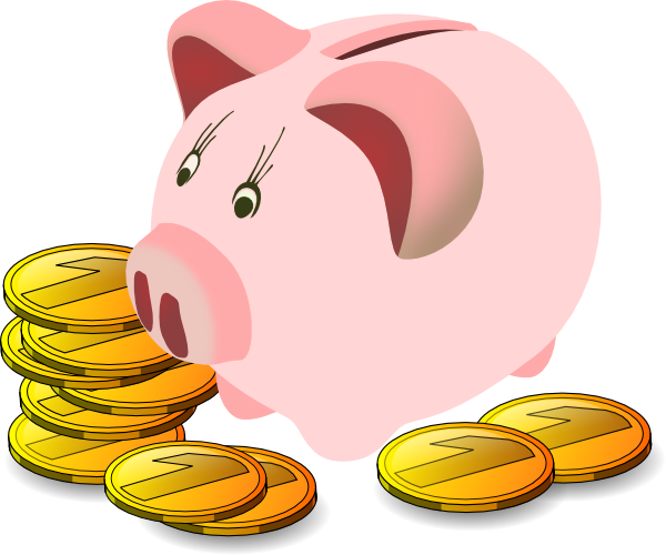 Piggy Bank Clipart Free.