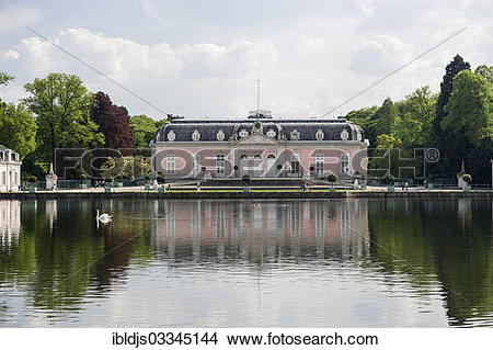 """Stock Photo of """"Schloss Benrath Palace and Park, Benrath."""