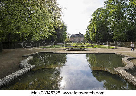 """Stock Image of """"Schloss Benrath Palace and Park, Benrath."""