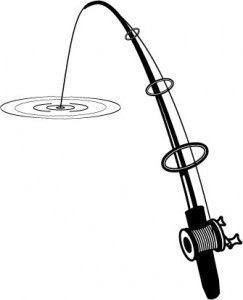 Fishing Rod clipart bent #839.