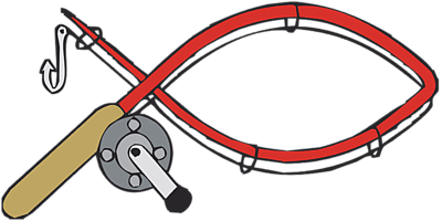 Bent fishing pole clipart free images.