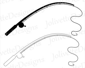 418 Fishing Rod free clipart.