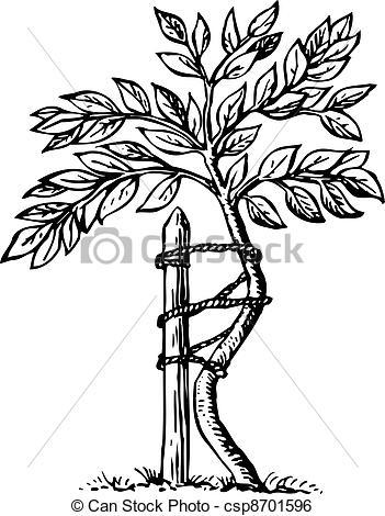 Clip Art Vector of Tree.