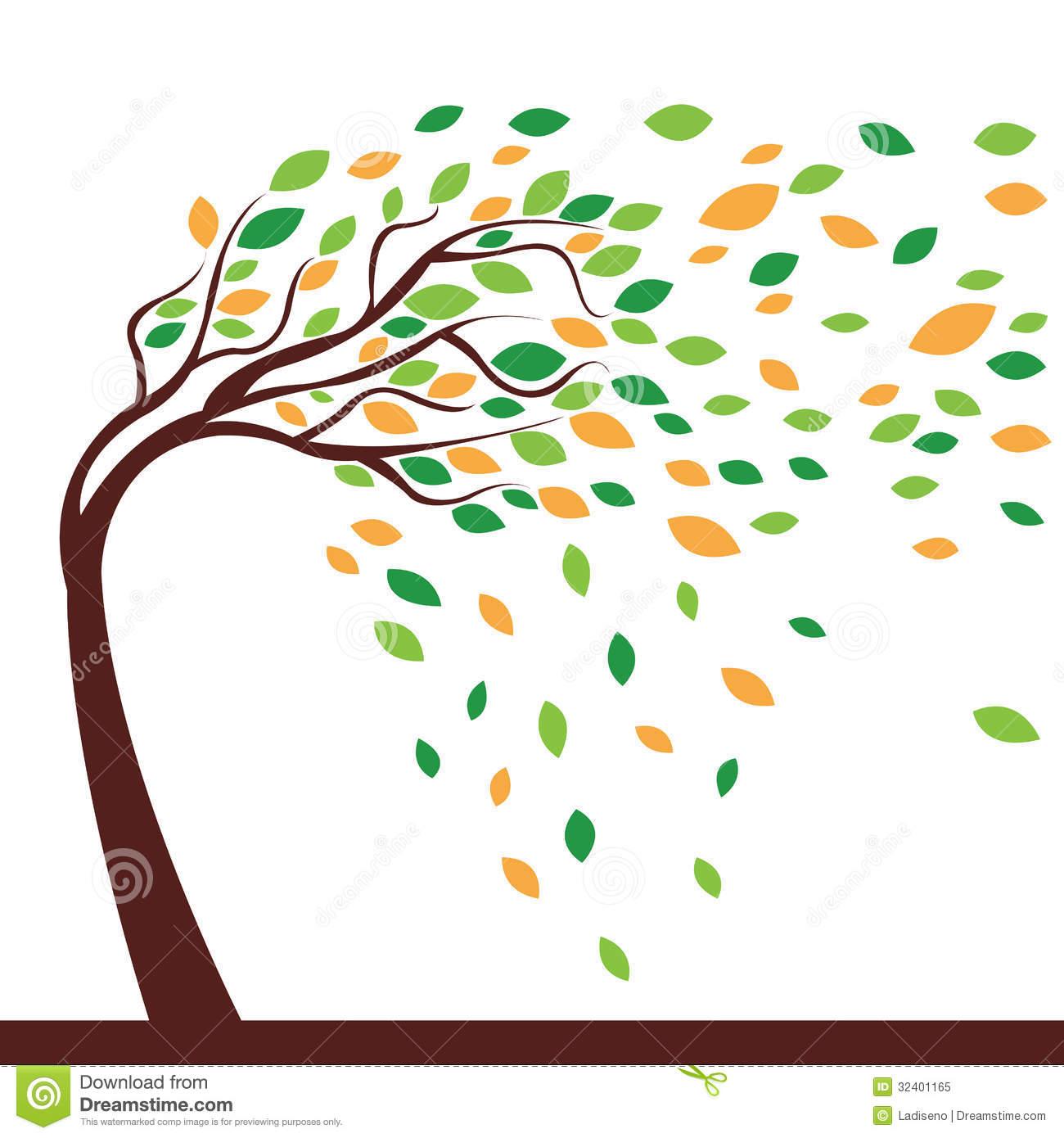 Bent trees clipart #9
