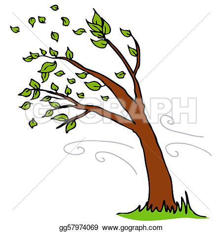 Bent trees clipart #10