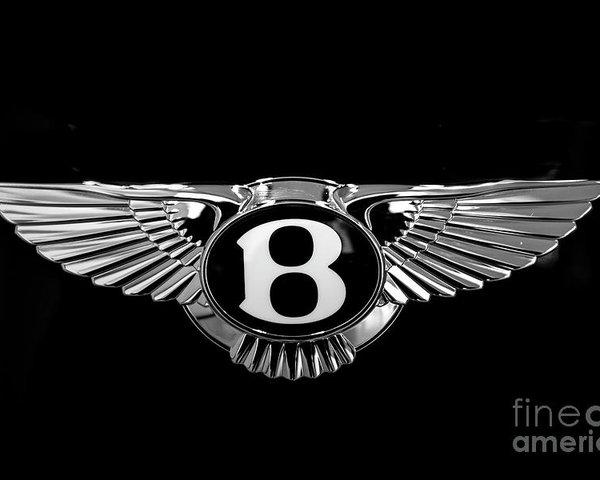 Bentley Motors Logo Poster.