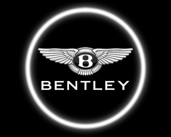 2 Wireless LED Laser Bentley Car Door Lights.