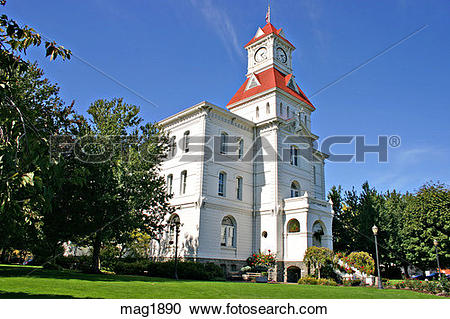 Stock Photography of Historic Benton County Courthouse in.