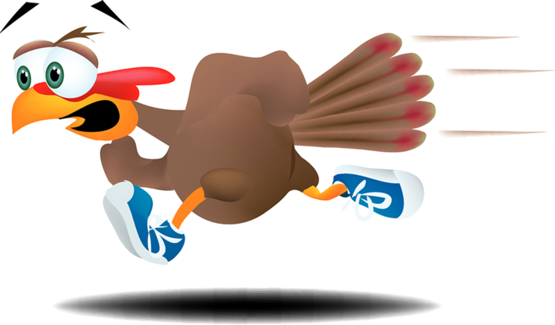 Turkey trot clip art.