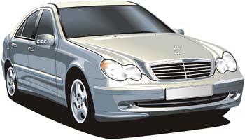 Mercedes Benz clip arts, free clipart.