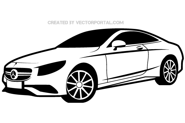 Mercedes benz car clipart.