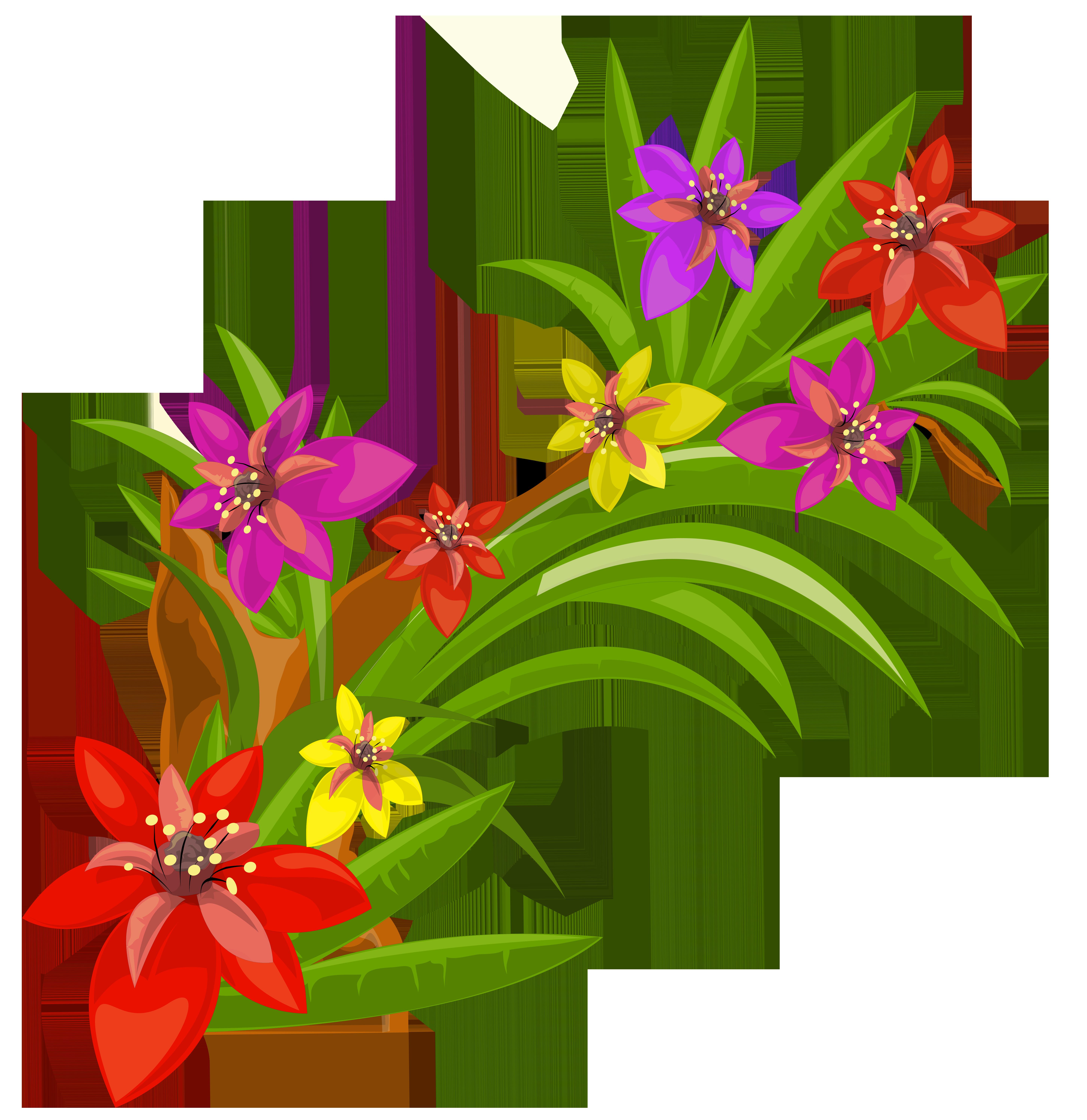 Exotic Flower Clip Art Free.