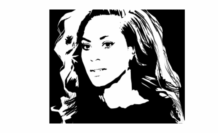 Beyonce Clipart Cartoon Transparent Beyonce Black And White.