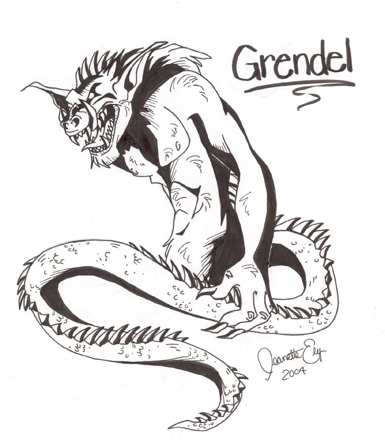 beowulf and grendel\'s mother.