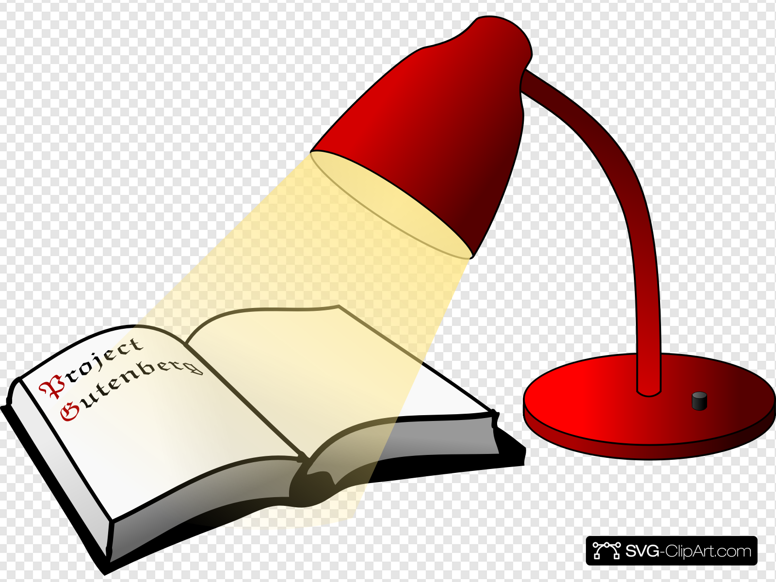 Book And Lamp Clip art, Icon and SVG.