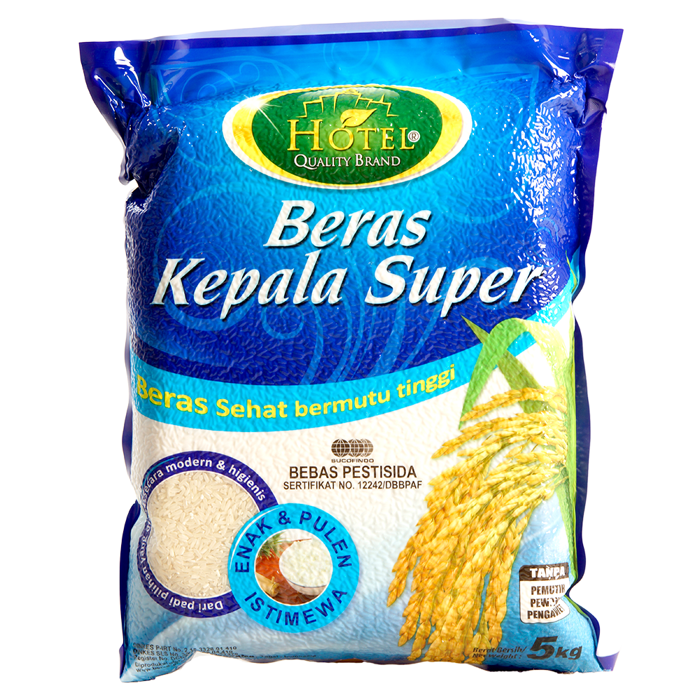 Beras Hotel Kepala Super 5Kg • Luceli.id.