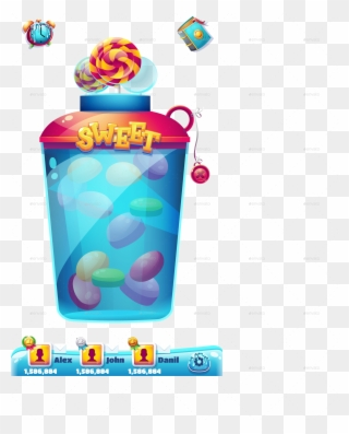 Sweet World Mobile Gui Pack Clipart.